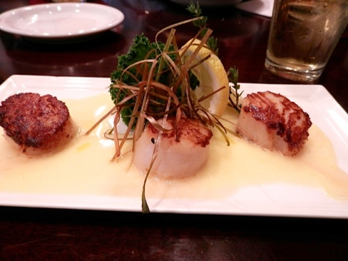 bronzed scallops with lemon butter