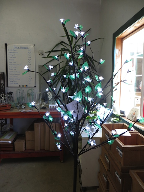 I toyed with the idea of getting this lighted tree for evening when we have campfires!