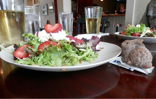 Allan said the bunny wanted some of my strawberry salad.