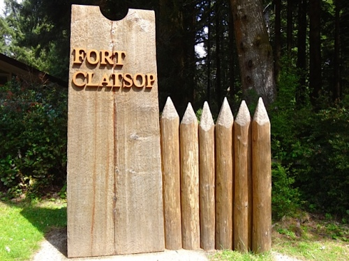 Fort Clatsop sign at visitor center