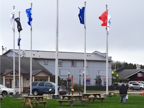 Allan's photo of the flag pavilion