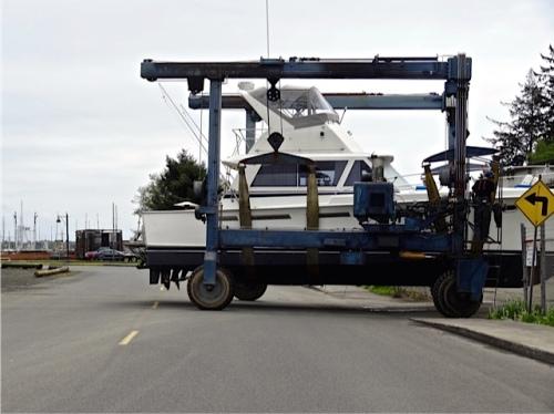 boatyard traffic (Allan's photo)