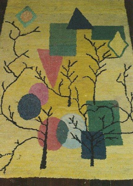 a rug by my grandma, Gladys Corinne Walker