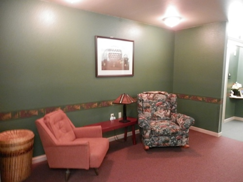 the west hallway's seating nook