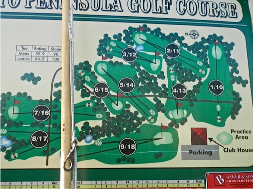 map of the adjoining golf course (Allan's photo)