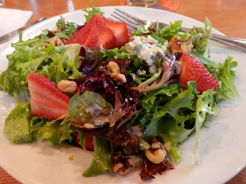 strawberry salad (Allan's photo)