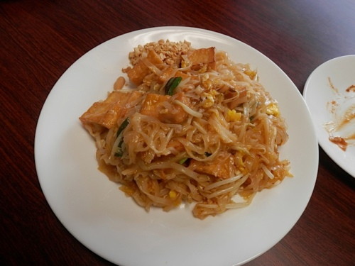 Pad Thai for Kathleen was not quite as al dente as we all prefer.