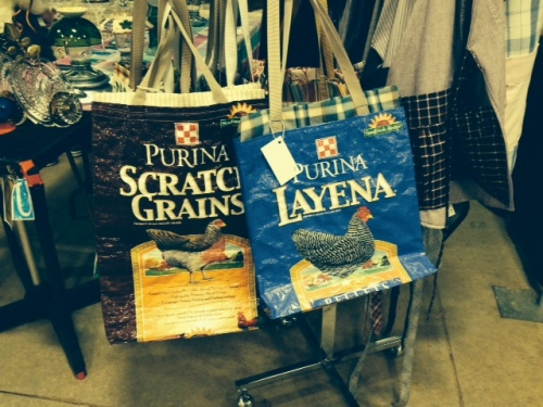 Cute totes from grain bags