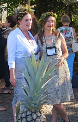Ann and blogger Kate at the Bloggers Fling, July 2014