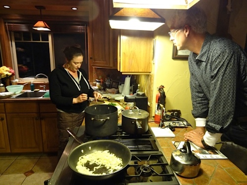 Ann is used to creating regionally themed Italian dinners with an audience.