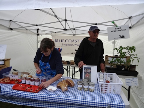 Blue Coast, another booth with local produce and treats.