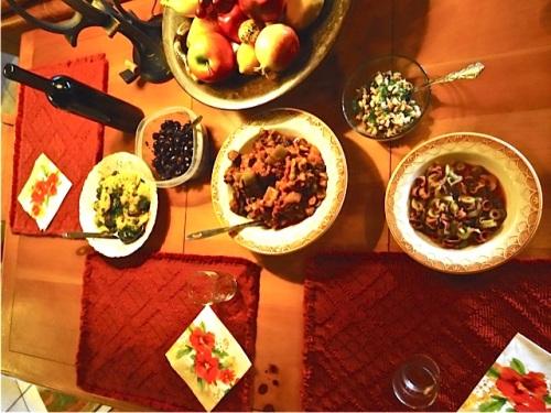 the feast:  Allan's photo