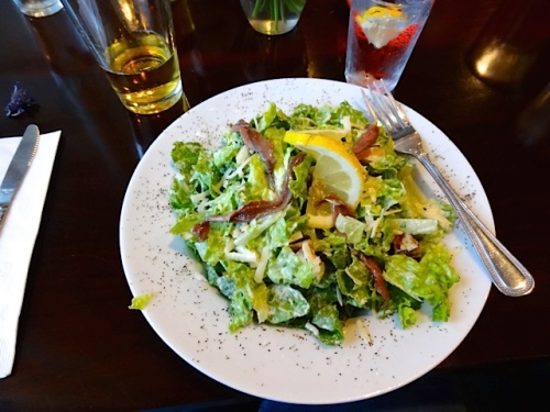 Allan's Caesar salad with anchovies