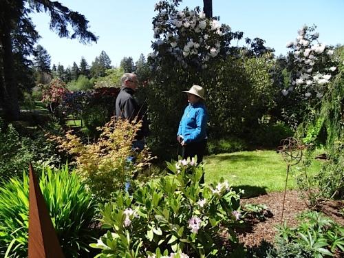 local botanist Kathleen Sayce and Steve