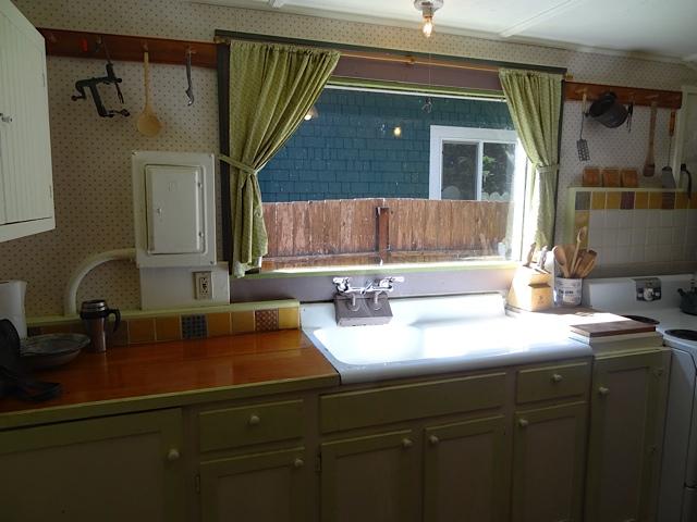 kitchen with north window