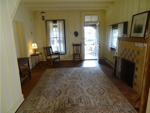 looking back to living room from kitchen door