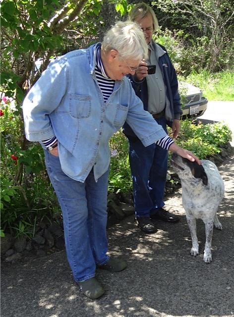 Diana, Allan, a good dog Lucy