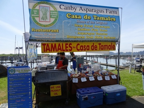 The tamale booth beckoned.  However, I was saving up my appetite for dinner plans.