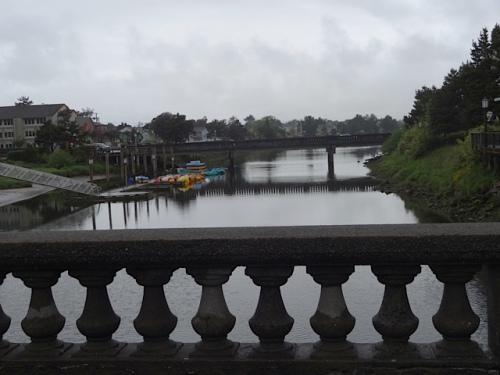 my kind of bridge, across the Necanicum River in downtown Seaside