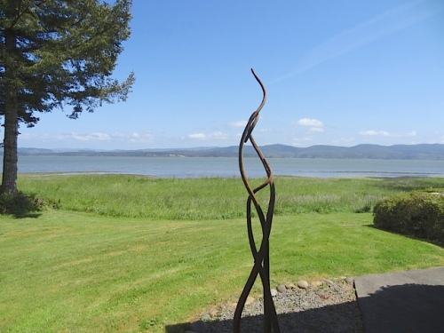 north end of house, view of Willapa Bay