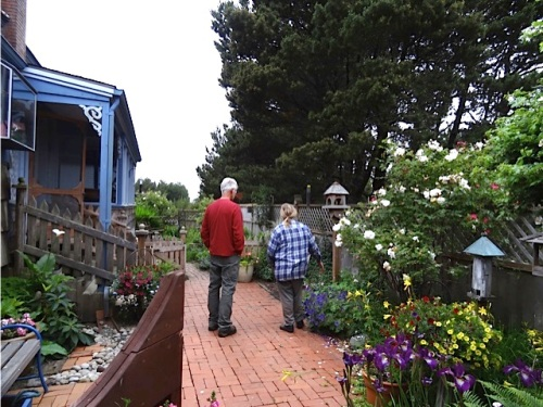 Allan's photo: touring Jo's garden