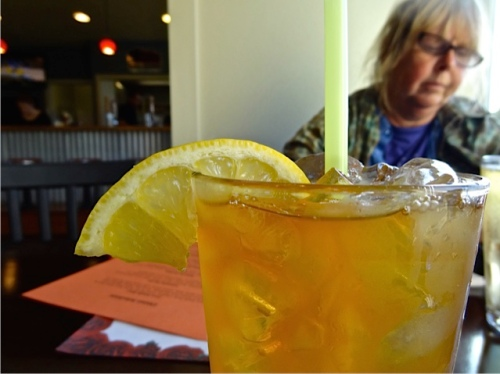 Allan's photo: most welcome hard apple cider (and checking in on Facebook)