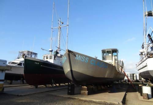 Miss Claudia, a big metal boat