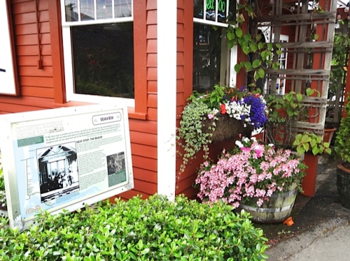 front corner with plantings by Nancy of The Basket Case