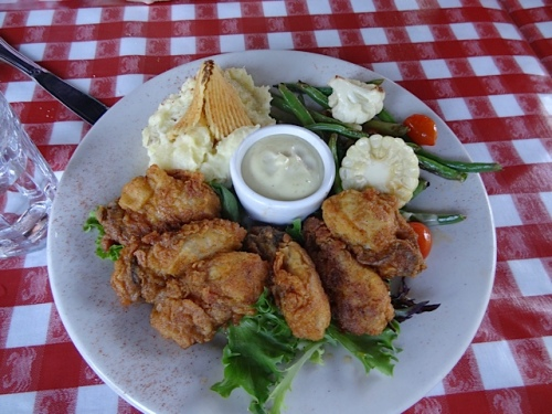 panfried oysters