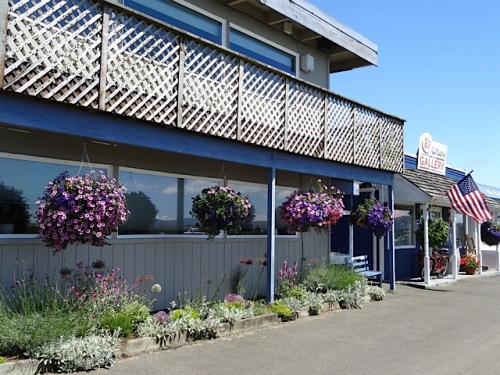 Port Office and Don Nisbett Gallery with baskets from The Basket Case Greenhouse