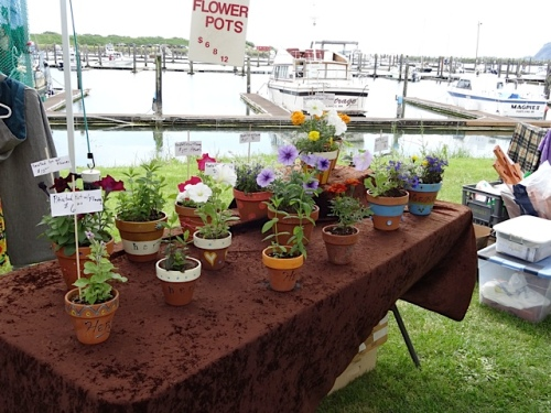 flower pots at the Willapa Crafts booth