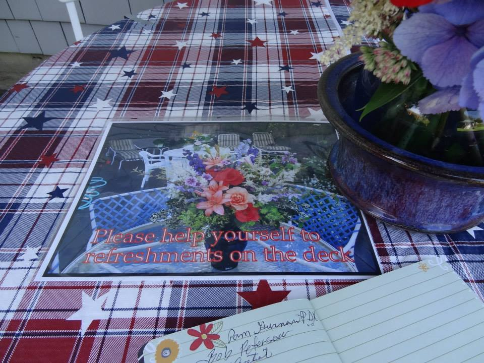 another of Kristine's photo signs on the entry table