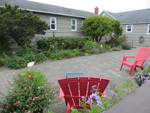 Anchorage center courtyard
