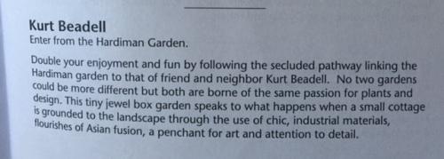 Kurt Beadell garden