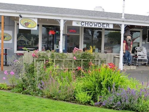 outside Captain Bob's Chowder