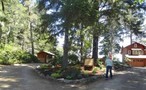 driveway circle garden