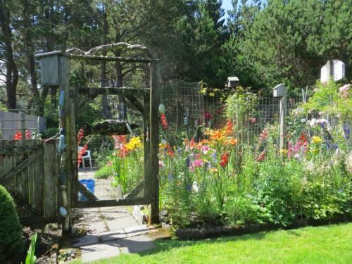 deer fenced garden in second area