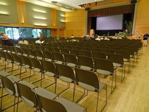 the auditorium (Allan's photo)