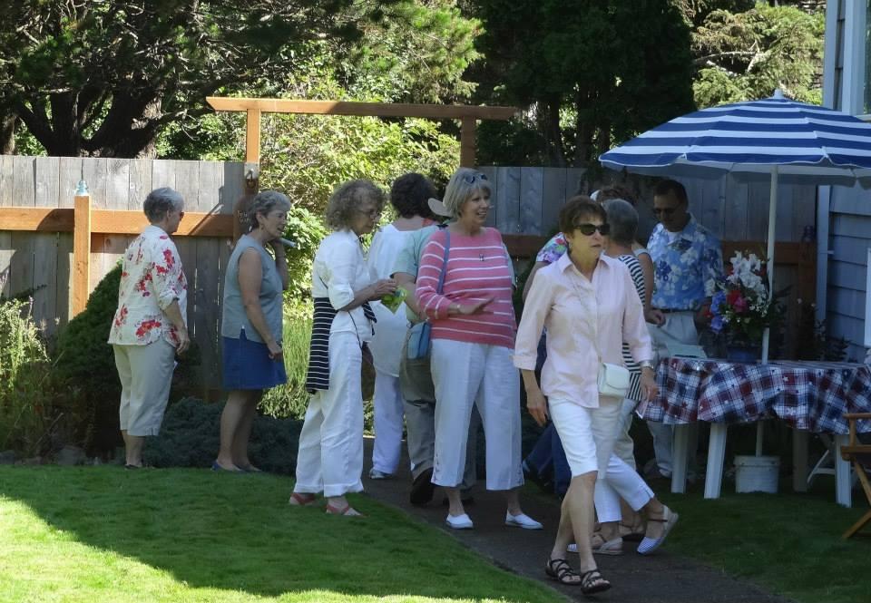 tour guests entering