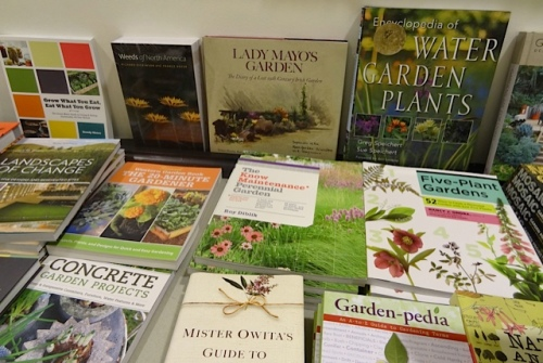 Bottom row: Mr. Owita's Guide to Gardening is excellent.  It was given to me by Karla of Time Enough Books at the Port of Ilwaco.