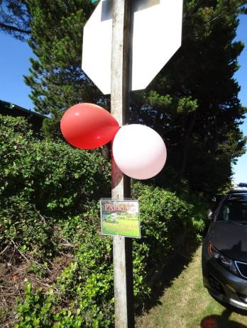 On tour day, look for the pink and red balloons.