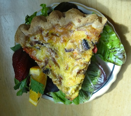 delicious quiche, made sweet by cabbage (we traded bites)