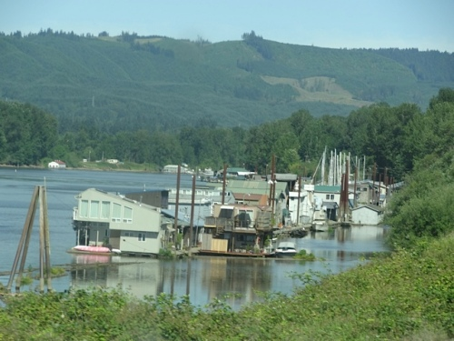 houseboats on the river channel