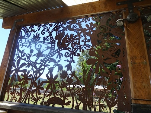 artfully screened wall