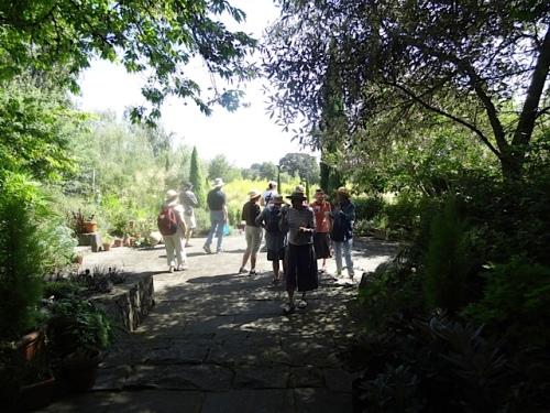 garden tour mingling