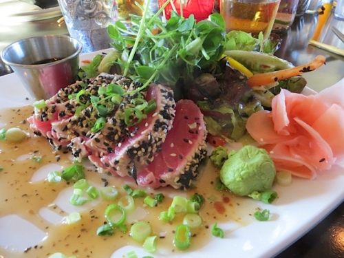 ahi tuna for me, of course