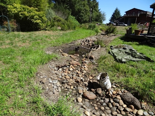 Today: Melissa and Dave's great progress on the streambed