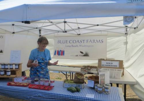 Blue Coast Farms gave me a bag of runner beans; she had an oversupply. They were delicious cooked up for dinner three nights in a row.