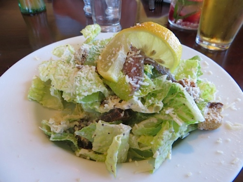 my Caesar salad with anchovies