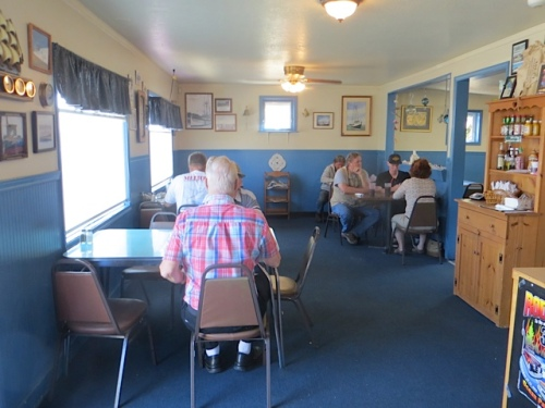 in the Portside Café